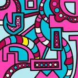 Ζωηρόχρωμα γεωμετρικά αφηρημένα γκράφιτι σχεδίων Στοκ φωτογραφία με δικαίωμα ελεύθερης χρήσης