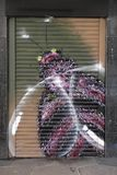 Ζωηρόχρωμα γκράφιτι σε Croydon, UK Στοκ Εικόνες