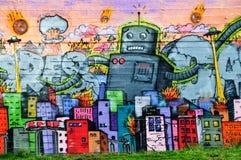 Ζωηρόχρωμα γκράφιτι στο Ρέικιαβικ Στοκ φωτογραφία με δικαίωμα ελεύθερης χρήσης