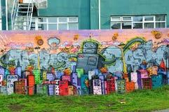 Ζωηρόχρωμα γκράφιτι στο Ρέικιαβικ Στοκ Εικόνες