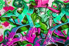 ζωηρόχρωμα γκράφιτι Στοκ Φωτογραφία