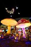 Ζωηρόχρωμα γλυπτά για το νέο έτος στοκ φωτογραφίες