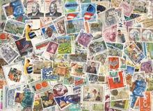 ζωηρόχρωμα γραμματόσημα αν&a Στοκ Φωτογραφίες