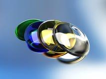ζωηρόχρωμα γυαλιά Στοκ Εικόνες