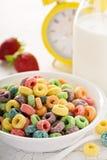 Ζωηρόχρωμα γλυκά δημητριακά φρούτων σε ένα κύπελλο Στοκ φωτογραφίες με δικαίωμα ελεύθερης χρήσης