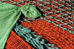 ζωηρόχρωμα δίχτια του ψαρέματος Στοκ Εικόνες