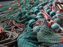 ζωηρόχρωμα δίχτια του ψαρέ&mu Στοκ φωτογραφία με δικαίωμα ελεύθερης χρήσης