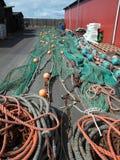 ζωηρόχρωμα δίχτια του ψαρέ&mu Στοκ Εικόνες
