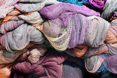 ζωηρόχρωμα δίχτια του ψαρέ&mu Στοκ Φωτογραφία