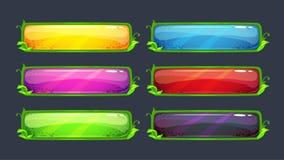 Ζωηρόχρωμα διανυσματικά κουμπιά κινούμενων σχεδίων ελεύθερη απεικόνιση δικαιώματος