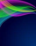 ζωηρόχρωμα διαφανή κύματα Απεικόνιση αποθεμάτων