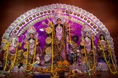 Ζωηρόχρωμα είδωλα Durga Puja, Kolkata, Στοκ Εικόνες