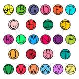 Ζωηρόχρωμα εικονίδια αλφάβητου Στοκ Εικόνες