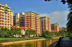 Ζωηρόχρωμα επίπεδα στη Σιγκαπούρη Στοκ Εικόνες