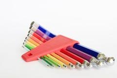 Ζωηρόχρωμα εργαλεία Άλλεν δεκαεξαδικού στοκ εικόνα με δικαίωμα ελεύθερης χρήσης