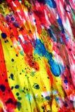Ζωηρόχρωμα ζωηρά ενεργητικά μπλε ρόδινα χρυσά ασημένια κόκκινα σημεία watercolor χρωμάτων σύστασης σημείων Στοκ εικόνα με δικαίωμα ελεύθερης χρήσης