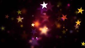 Ζωηρόχρωμα θερμά λάμποντας αστέρια ελεύθερη απεικόνιση δικαιώματος
