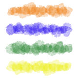 Ζωηρόχρωμα διανυσματικά κτυπήματα βουρτσών watercolor Στοκ φωτογραφίες με δικαίωμα ελεύθερης χρήσης