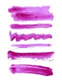 Ζωηρόχρωμα διανυσματικά κτυπήματα βουρτσών watercolor Στοκ Εικόνα