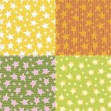 Ζωηρόχρωμα διανυσματικά υπόβαθρα σχεδίων αστεριών άνευ ραφής Στοκ εικόνες με δικαίωμα ελεύθερης χρήσης