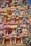 Ζωηρόχρωμα ινδά αγάλματα στο antient ναό Στοκ Φωτογραφίες