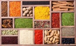 ζωηρόχρωμα ινδικά καρυκεύ Στοκ Εικόνα