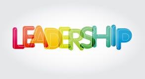 Ζωηρόχρωμα κίνητρο και inspireation λέξης ηγεσίας διανυσματική απεικόνιση