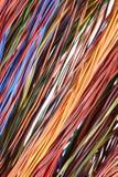 Ζωηρόχρωμα καλώδιο και καλώδια του δικτύου υπολογιστών Στοκ φωτογραφία με δικαίωμα ελεύθερης χρήσης
