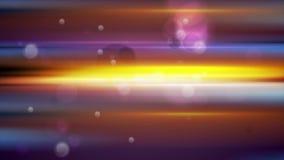 Ζωηρόχρωμα καμμένος λωρίδες και bokeh ελαφριά τηλεοπτική ζωτικότητα μορίων φιλμ μικρού μήκους