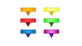 Ζωηρόχρωμα κενά κουμπιά Ιστού Στοκ φωτογραφίες με δικαίωμα ελεύθερης χρήσης