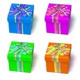 Ζωηρόχρωμα κιβώτια δώρων Στοκ εικόνα με δικαίωμα ελεύθερης χρήσης