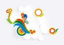 Ζωηρόχρωμα κομμάτια χαρτί διανυσματική απεικόνιση