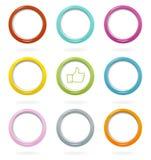 Ζωηρόχρωμα κουμπιά Ιστού που τίθενται διανυσματική απεικόνιση