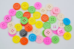 ζωηρόχρωμα κουμπιά κουμπιών κουμπιών πλαστικά clasper Στοκ Εικόνες