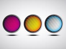 Ζωηρόχρωμα κουμπιά μέσων ελεύθερη απεικόνιση δικαιώματος