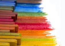 ζωηρόχρωμα κραγιόνια Στοκ φωτογραφίες με δικαίωμα ελεύθερης χρήσης