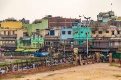 Ζωηρόχρωμα κτήρια στο Δελχί Στοκ εικόνα με δικαίωμα ελεύθερης χρήσης