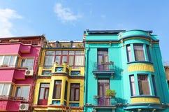 Ζωηρόχρωμα κτήρια της Ιστανμπούλ Στοκ εικόνες με δικαίωμα ελεύθερης χρήσης