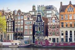 Ζωηρόχρωμα κτήρια του Άμστερνταμ Στοκ Εικόνα