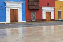 Ζωηρόχρωμα κτήρια του Περού Στοκ Φωτογραφία