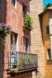 Ζωηρόχρωμα κτήρια Poble Espanyol, Βαρκελώνη Στοκ Εικόνες