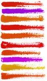Ζωηρόχρωμα κτυπήματα watercolor Στοκ Εικόνες