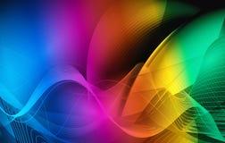 Ζωηρόχρωμα κύματα - σύγχρονο αφηρημένο διανυσματικό σχέδιο διανυσματική απεικόνιση