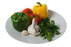 ζωηρόχρωμα λαχανικά πιάτων Στοκ εικόνα με δικαίωμα ελεύθερης χρήσης