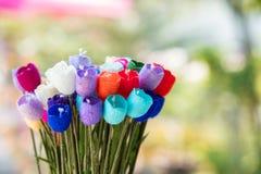 Ζωηρόχρωμα λουλούδια τεχνών ανθοδεσμών θολωμένος Στοκ φωτογραφία με δικαίωμα ελεύθερης χρήσης
