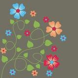 ζωηρόχρωμα λουλούδια Διανυσματική απεικόνιση