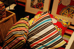 ζωηρόχρωμα μαξιλάρια Στοκ Φωτογραφίες