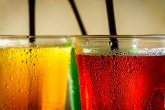 Ζωηρόχρωμα μη αλκοολούχα ποτά Στοκ Φωτογραφίες