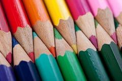ζωηρόχρωμα μολύβια ανασκό&p Στοκ Εικόνες