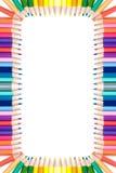 ζωηρόχρωμα μολύβια πλαισί&o Στοκ φωτογραφία με δικαίωμα ελεύθερης χρήσης